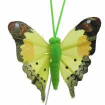 Koristeellinen perhonen langalla lajiteltuna 5cm 24kpl