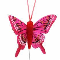 Koristeellinen perhonen langalla 5cm 24kpl
