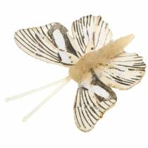 Koristeellinen perhonen metalliklipsillä luonto lajiteltu H4,9cm/5,8cm/7,4cm 6kpl.