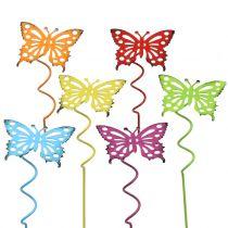 Kukkatapit perhonen monivärinen 22cm 12kpl