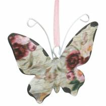 Perhonen roikkuu metallia Deco ripustin 7cm kevät koristelu 12kpl
