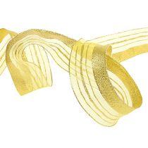 Koristeellinen nauha, jossa lurex-raidat kulta 40mm 20m