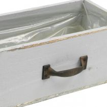 Istutin Puinen laatikko Shabby Chic Harmaa 25x13x9cm