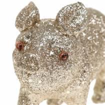 Koristeellinen sika kimallesamppanja 10cm 8kpl