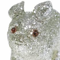 Koristeellinen sika glitter hopea 10cm 8kpl