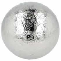 Kelluvat pallokukat hopeametallia Ø10cm
