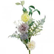 Silkkikukkia kimppu, kesän koristelu, krysanteemi ja pallo ohdake, tekokukat L50cm