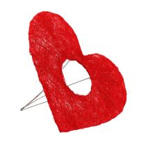 Sisal sydän ranneke 20cm punainen sydän sisal kukka koristelu 10kpl