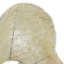 Sisal-mansettisydän valkaistu 27cm 1p