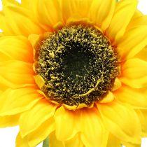 Keinotekoinen auringonkukka koristeluun Ø15cm