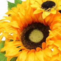 Koristeellinen kukkakimppu auringonkukkakimppu keltainen 30cm