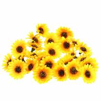 Hajallaan olevat auringonkukanpäät keltaiset Ø3,3cm 100p