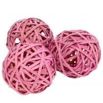 Chipball vaaleanpunainen Ø6cm 6kpl
