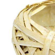 Haketusalusta pyöreä keltainen Ø25cm H10cm 1kpl