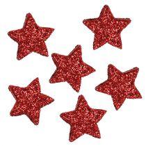 Star Glitter 1,5cm ripotella punainen 144kpl