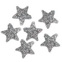 Tähti kimallus 1,5cm hopean ripotteluun 144kpl