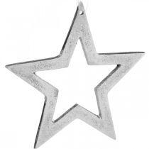 Riipputähti Hopea Alumiini Joulukoriste 15,5×15cm