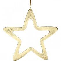 Joulun riipus, tähti koriste adventtiin, koristetähti kultainen 14×14cm