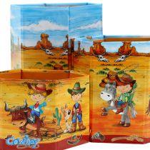 Kynäteline setti cowboy-motiivilla H 6-12cm