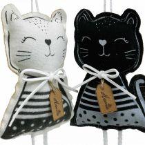 Kangaskissat ripustettavaksi, kevätkoriste, koriste ripustin kissa, lahja koriste 4kpl.