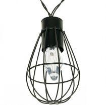 LED-aurinkokenno ketjun puutarha koristelu musta 350cm 8LED 8LED