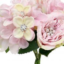 Kimppu vaaleanpunaista helmiä 29cm