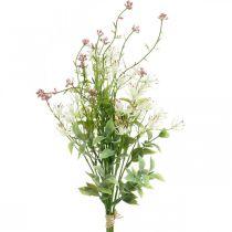 Kevät kimppu keinotekoinen vaaleanpunainen, valkoinen, vihreä keinotekoinen kukka kimppu H43cm