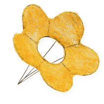 Sisalin kukkamansetti keltainen Ø25cm 6kpl