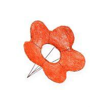 Sisalin kukkamansetit oranssia Ø15cm 10kpl