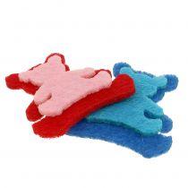 Hajotettu karhu huovasta, väreistä 3,5 cm x 3,5 cm 100 kpl