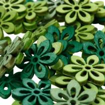 Hajusteiden koristelu kukka vihreä, vaaleanvihreä, minttu puukukat hajottaa 144St