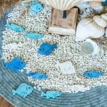 Scatter deco kalapuu valkoinen, sininen, vaaleansininen 4cm 72p