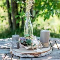 Pilarikynttilä 130/70 ruskea kynttilä kestävä luonnollinen vaha kynttilän koristelu