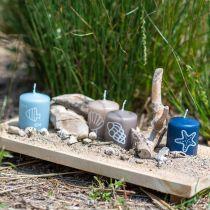 Pilarikynttilät 60/50 Nautical koristeellinen kynttilä kesän koristelu Mix turvallinen kynttilä 4kpl
