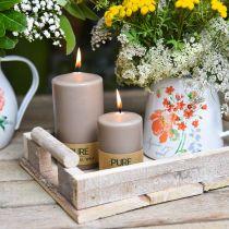 Pure Pillar Candle Brown 90/60 luonnollinen vaha kynttilä Kestävä Stearin Rape kynttilän koristelu