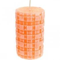 Kynttilät Rustic, Pilarikynttilät Basket Pattern, vahakynttilät Orange 110/65 2kpl 2kpl