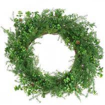 Deco seppele Suuret neulan oksat, käpyjä ja puksipuuta Vihreä 70cm