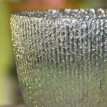 Kynttilä lasi lyhty sininen vihreä pöydän koriste lasi Ø21cm H21,5cm