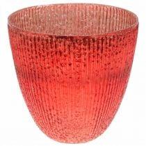 Kynttilä Lasi Lyhty Punainen lasi Deco maljakko Ø21cm H21,5cm