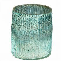 Tealight Jar Sininen tuuli valo lasi pöydän koriste 12cm