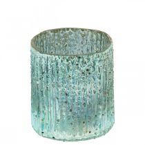 Tealight Jar Sininen tuuli valo lasi kynttilä koristelu 8cm