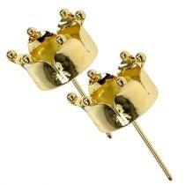 Teekynttilänpidike Crown Gold Ø4,8cm 4kpl