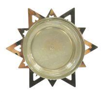 Lämpökynttilänjalka tähtikulta 23,5 cm 4 kpl