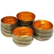Teekannatin pyöreä Metalli Pronssi, Kulta Ø6,5-8,5cm 4 kpl:n setti