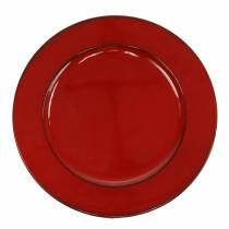 Koristelautanen punainen / musta Ø22cm