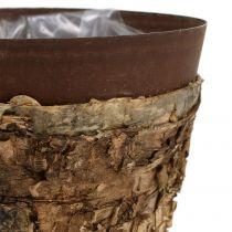 Ruukku koivua ja metallia Ø17,5cm K16,5cm 1kpl