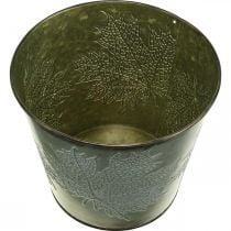 Kasviastia syyskoristeella, Metallikoriste, Syysastia vihreä Ø18,5cm K17cm