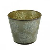Kasviastia, Syksyn koriste, Metalliastia lehdillä Kultainen Ø25,5cm K22cm