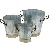 Kattila metallia kahvoilla Vintage Deco Ø26/20/17cm 3 kpl sarja