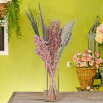 Kuivatut kukat Exotics Valkoinen vaaleanpunainen sekoitus kuivattu kukkakimppu setti